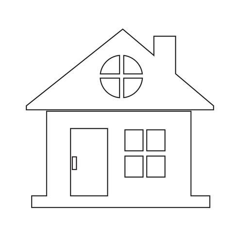 hus ikon symbol tecken