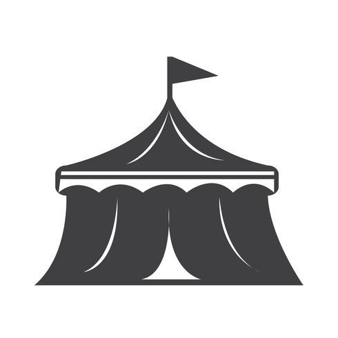 sinal de símbolo de ícone de circo