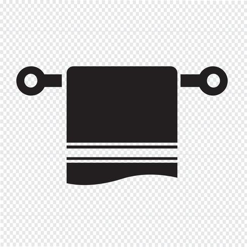 asciugamano icona simbolo segno
