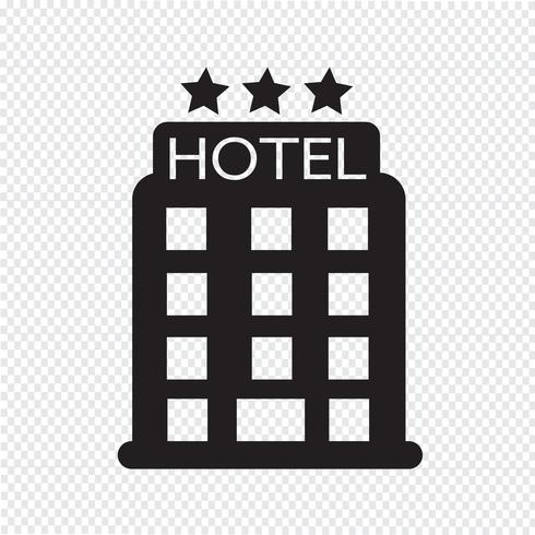 hotel pictogram symbool teken