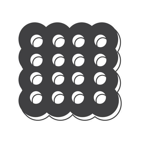 icono de cookie símbolo de signo