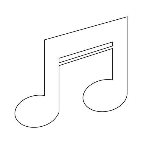 Musik ikon symbol tecken