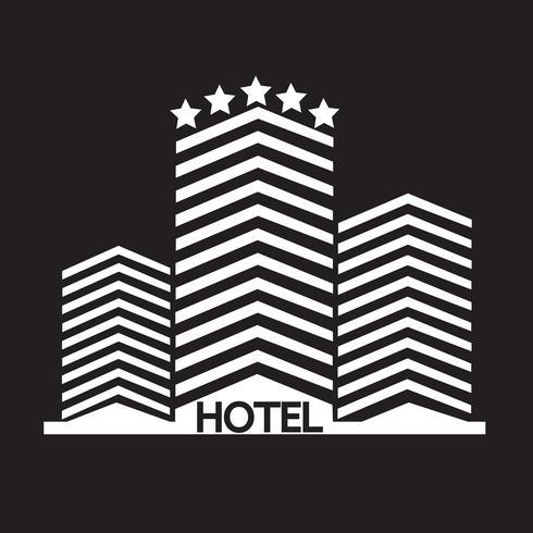 Sinal de símbolo de ícone de Hotel