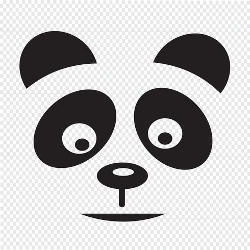 panda icon  symbol sign vector