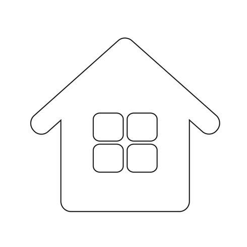segno di simbolo di icona casa