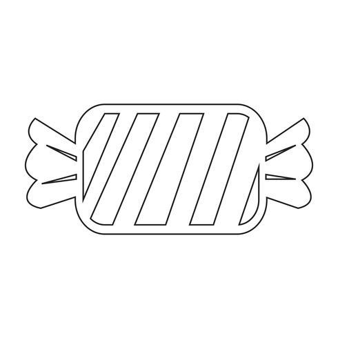 icono de caramelo símbolo de signo