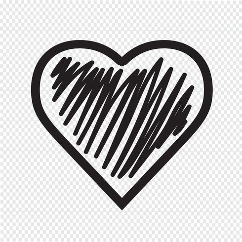 Icono del corazón símbolo de signo vector