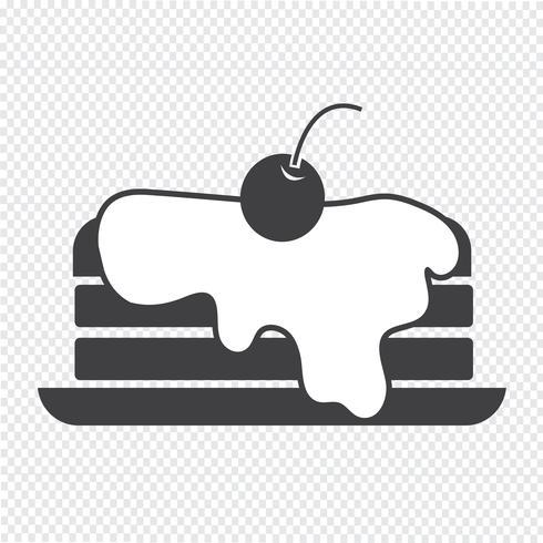 segno di simbolo dell'icona del pancake