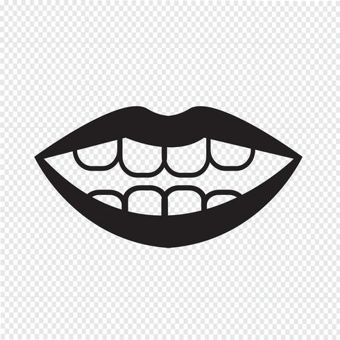 Mund Symbol Symbol Zeichen