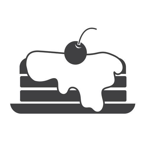 sinal de símbolo de ícone de panqueca