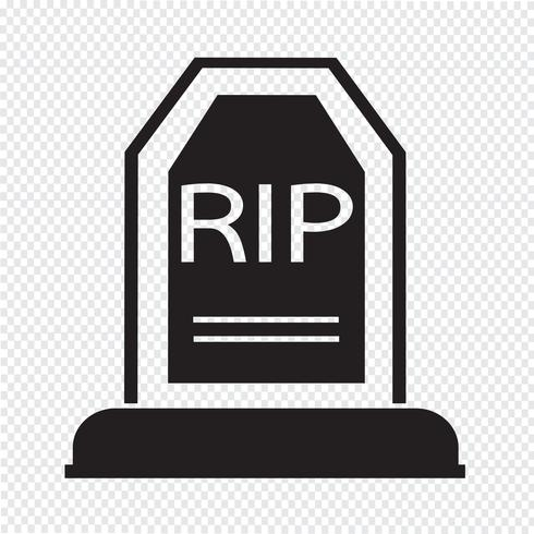 Grave Icon symbol sign vector