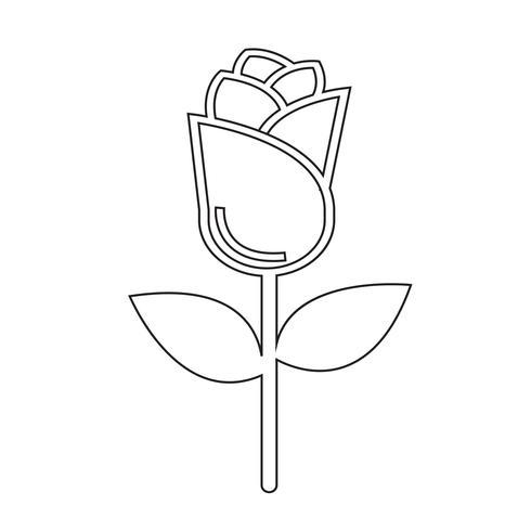 symbole de symbole icône rose