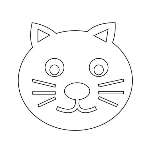 icono de gato símbolo signo
