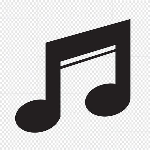 Segno simbolo icona della musica