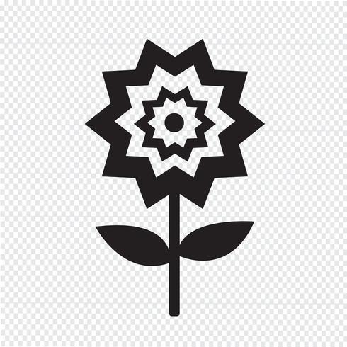 Blomma ikon symbol tecken