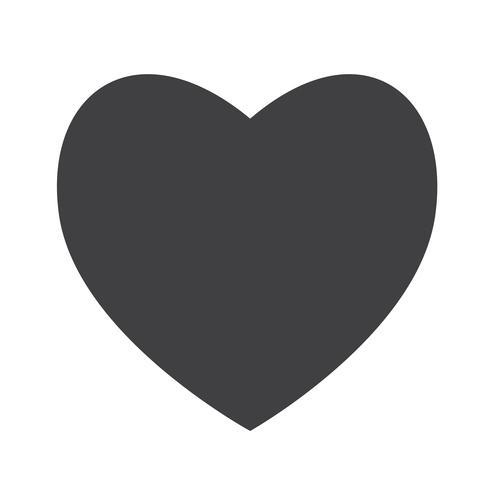 Hart pictogram symbool teken