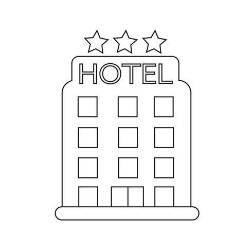 hotel icon  symbol sign vector
