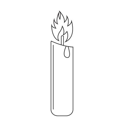 Signo de símbolo de icono de vela vector
