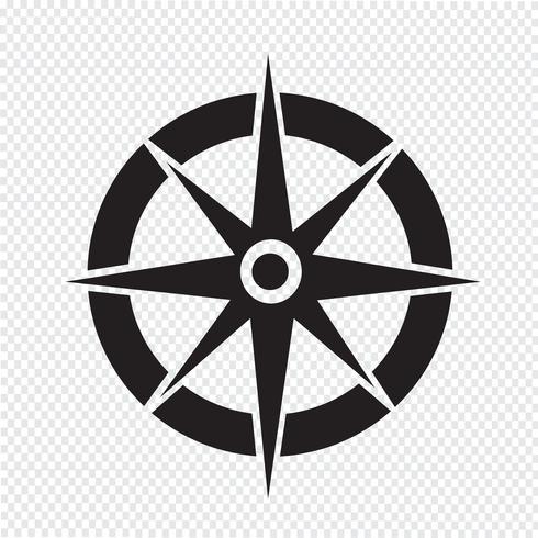 Icono de compás símbolo de signo
