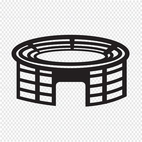 Icono de estadio símbolo signo