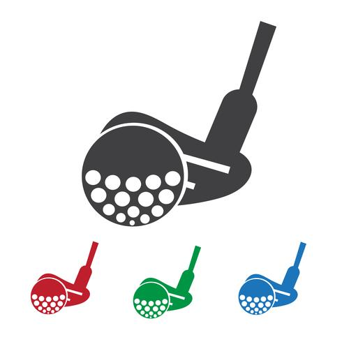 Golf ikon symbol tecken