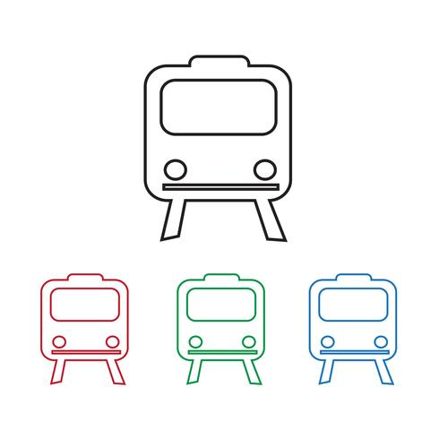 Segno di simbolo dell'icona del treno