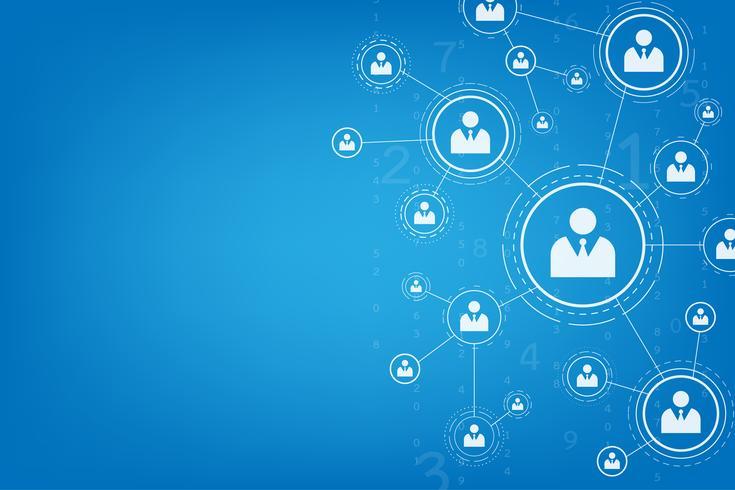 Genetwerkte communicatiesystemen zijn met elkaar verbonden.