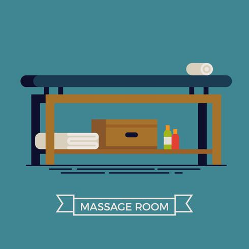 Massage room illustration