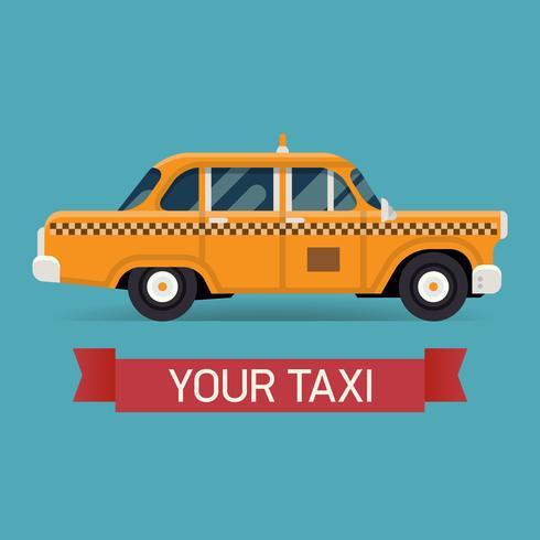 Gelbes Taxi-Gestaltungselement