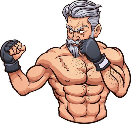 Viejo luchador de mma