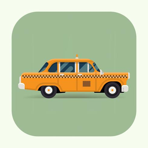 Classic yellow taxi icon