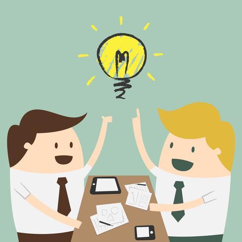 Brainstorm. Idee concept.