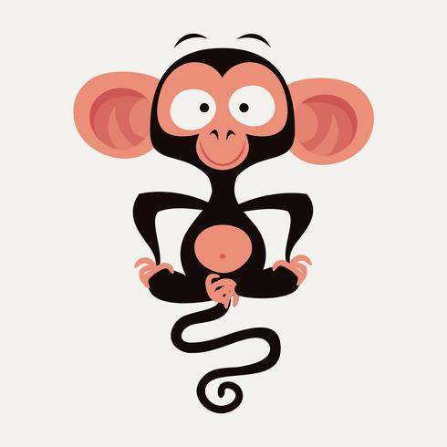 Funny vector monkey character