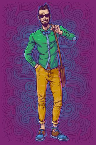 Illustration vectorielle d'un gars à la mode