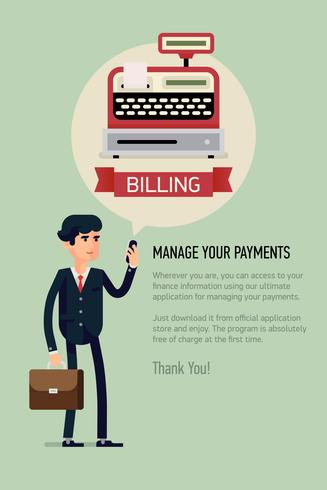Mobile billing application for business