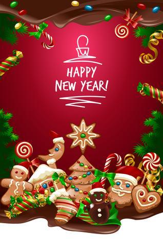 Fondo dulce de Navidad ilustración vectorial