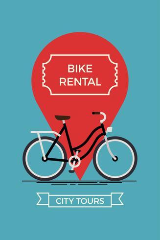 City bike rental banner template