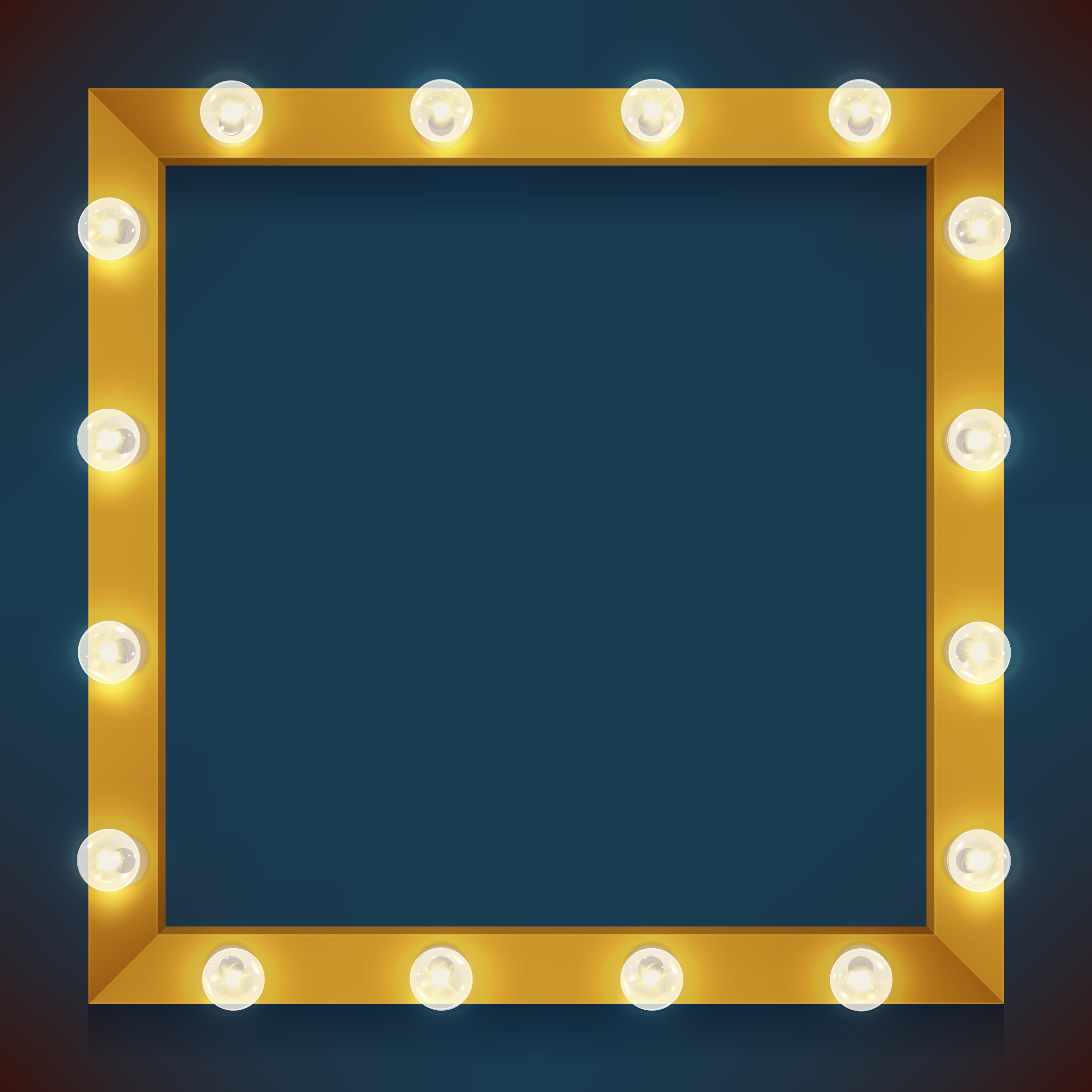 Square Frame With Bulbls Download Free Vectors Clipart