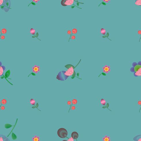 modèle de fleur mignon sans soudure pour l'été, automne, printemps vecteur