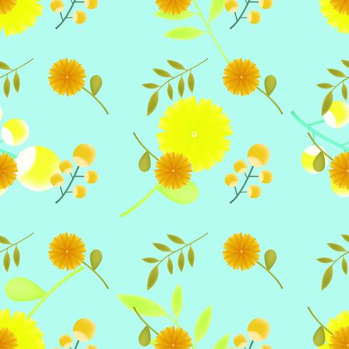 schattig bloemenpatroon naadloos voor de zomer, herfst, lente vector