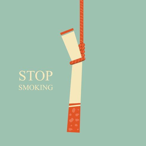 hängde cigaretten. Sluta röka vektor