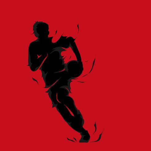 splash silhouette di pallacanestro