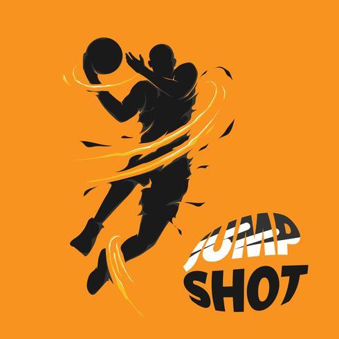 hoppa skott basketklo vektor