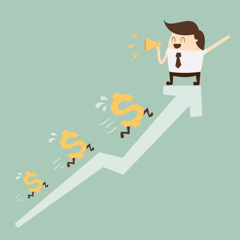 Profit. illustration de dessin animé de concept entreprise.