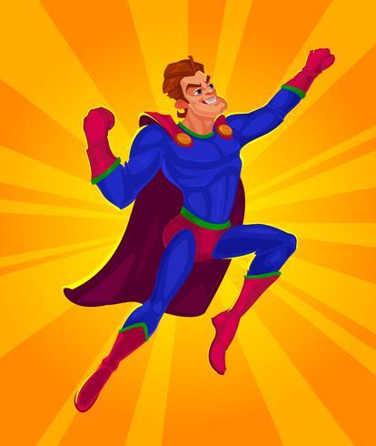 Vetorial, ilustração, de, um, superhero