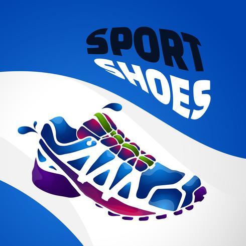 sport shoes splash fresh vector