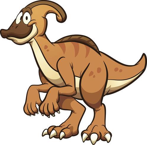 Dinossauro Parasaurolophus vetor
