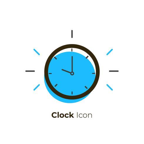 Vetor de ícone de relógio