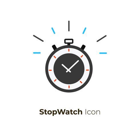 Conceito de vetor de ícone de cronômetro
