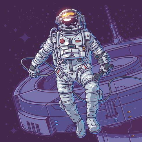 Cosmonauta de ilustração vetorial